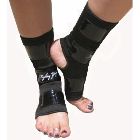 Rear Tack Strip (Black Mighty Grip Pole Dancing Ankle Protectors with Tack Strips for Gripping the Pole (1 pair))