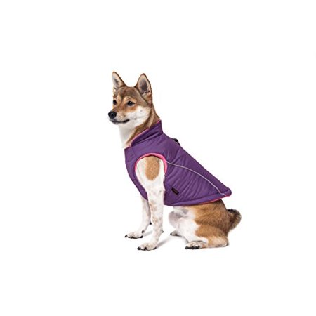 Gooby Cold Weather Fleece Lined Sports Dog Vest with Reflective Lining, Small,