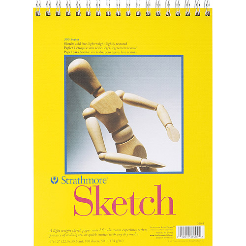 "Strathmore Spiral Sketch Book 9""x12"", 100 sheets"