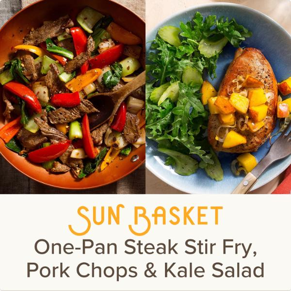 Sun Basket Meal Kits, 2 Recipes Serving 2, Paleo, Organic Produce