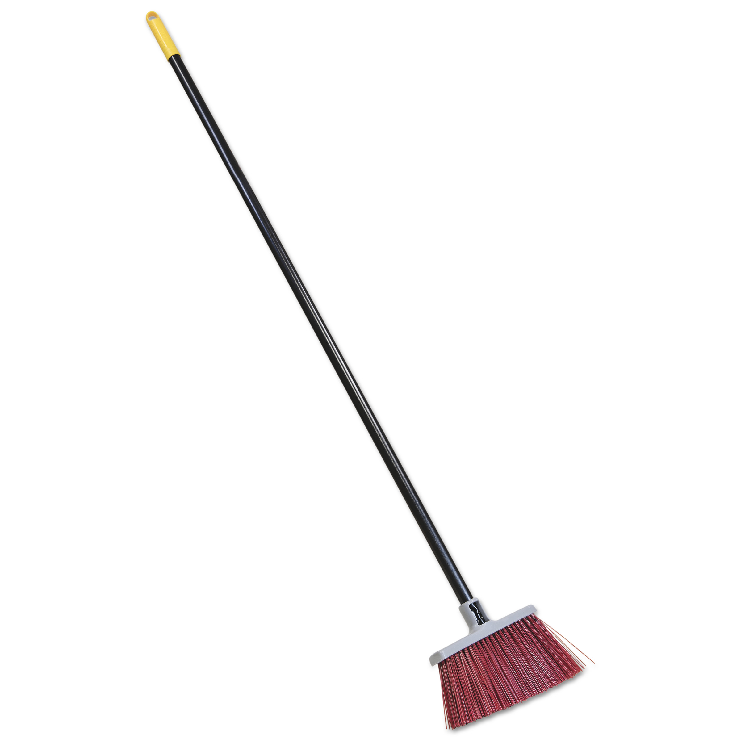 "Quickie Bulldozer Landscaper's Upright Broom, 48"" Handle, 4"" Bristles, Red/Gray"