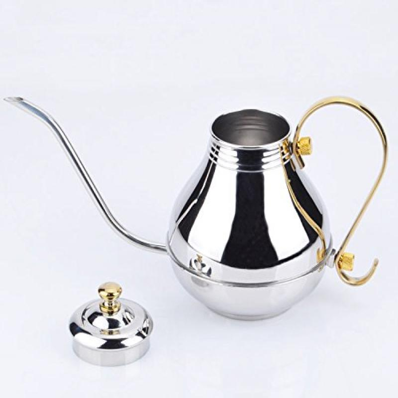 FAMI Stainless Steel Palace Hand Drip Coffee Pot Fine Mouth Pot Tea