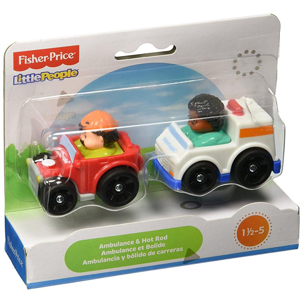 Fisher Price Little People Wheelies - Ambulance/Hot Rod b...
