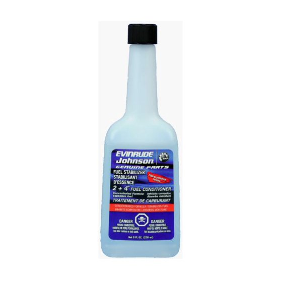 OEM BRP Johnson Evinrude 2+4 Fuel Conditioner Stabilizer 8 oz