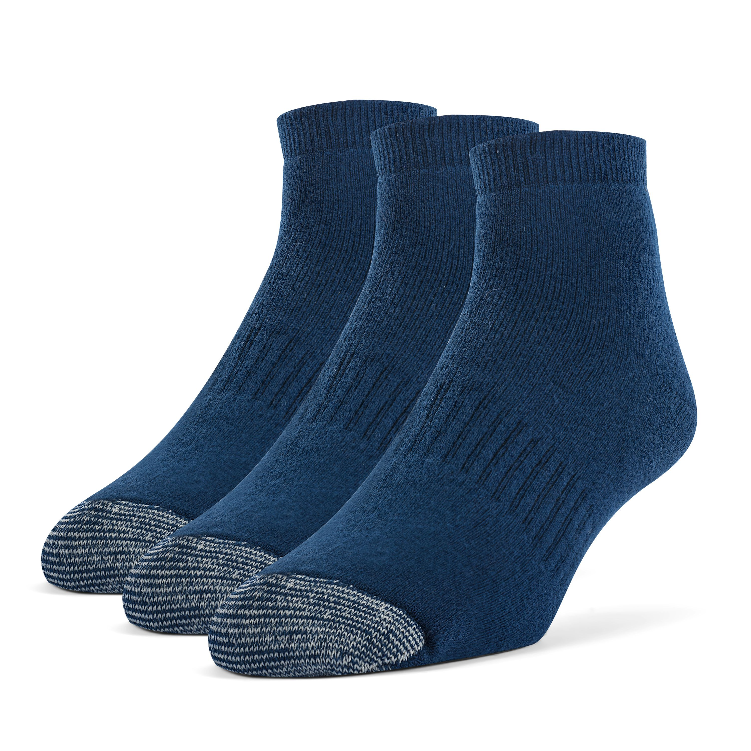Men's Cotton ExtraSoft Ankle Cushion Socks - 3 Pairs