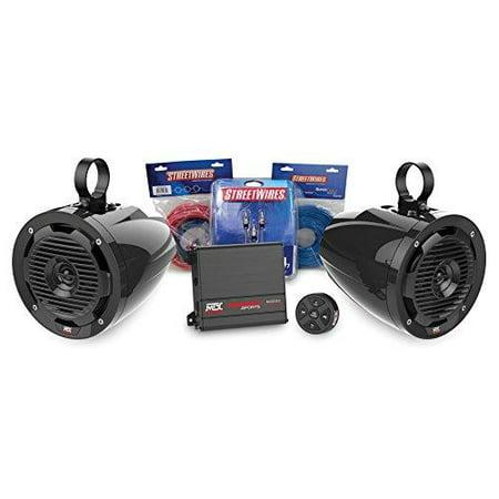 mtx motorsports borvkit1 bluetooth tower 2-speaker & amplifier off-road motorsports package - Alton Towers Halloween Package