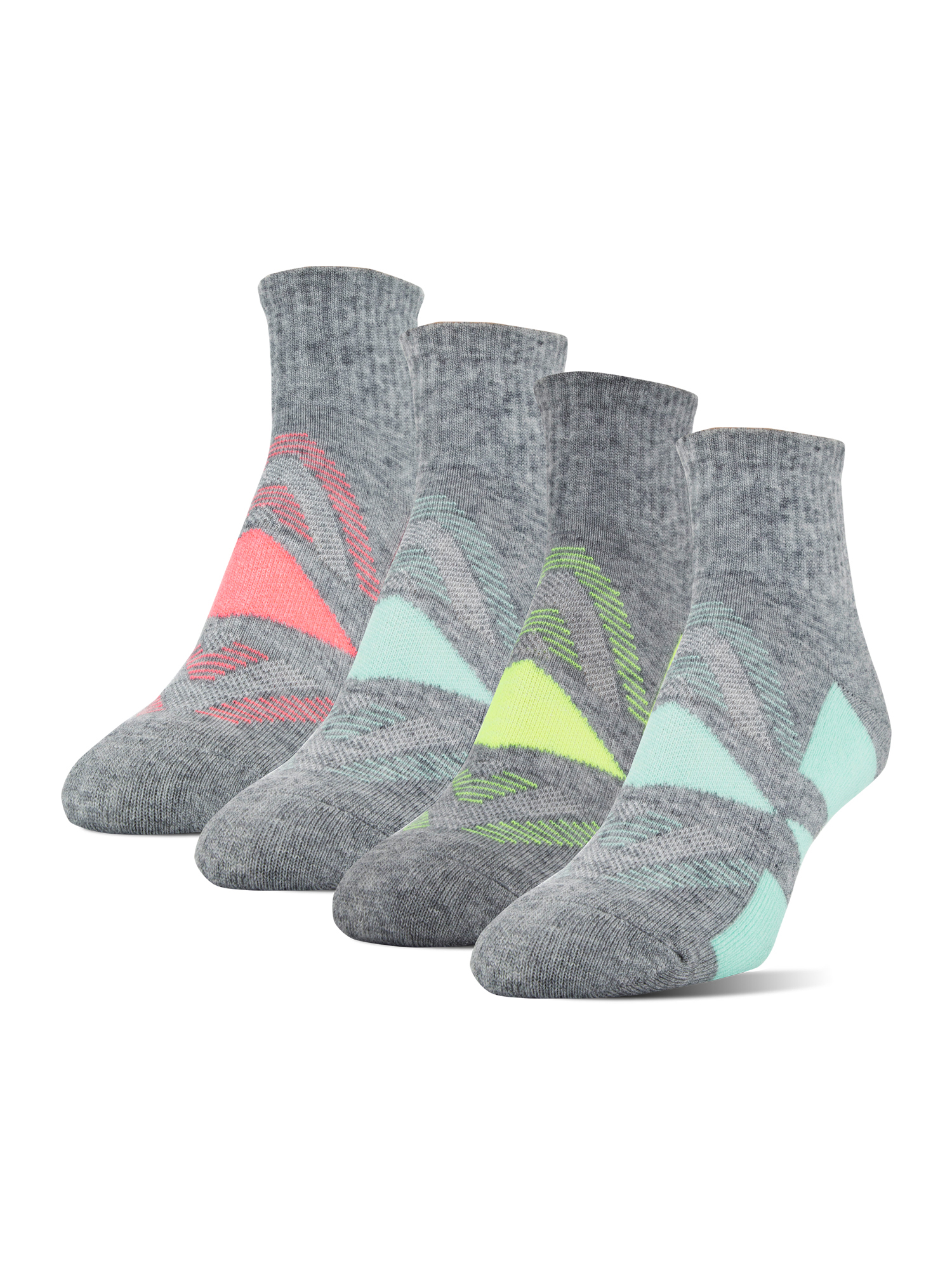 Athletic Works Women's Wool Midcushion Ankle Socks, 4 Pairs