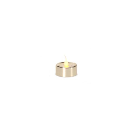 Gold Christmas Candle - Pack of 4 LED Lighted Battery Operated Flicker Flame Gold Christmas Tea Light Candles