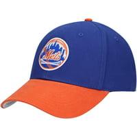 Men's Royal/Orange New York Mets Two-Tone Basic Adjustable Hat - OSFA