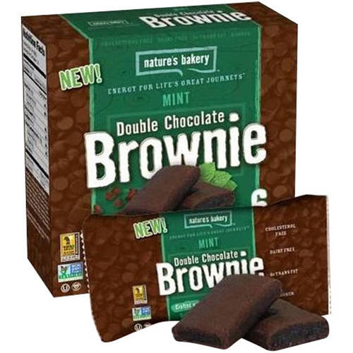 Nature's Bakery Mint Double Chocolate Brownie, 12 oz, (Pack of 12)