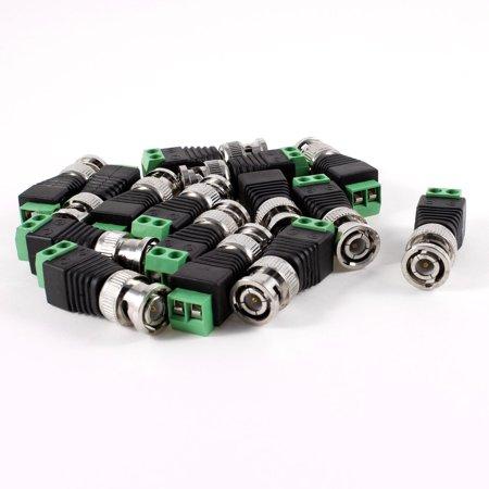 15 x Coax Cat5 to BNC Coaxial Cable Video Balun Connectors for CCTV Camera