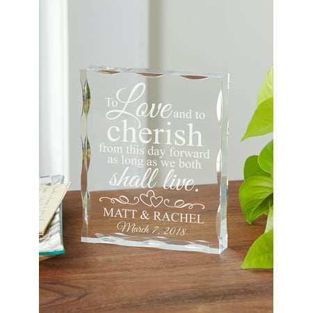 Shape Acrylic Plaque (Personalized From this Day Forward Acrylic Block)