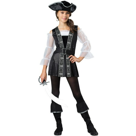 Girls Tween Dark Pirate Halloween Costume - Cool Halloween Costume Ideas For Tweens