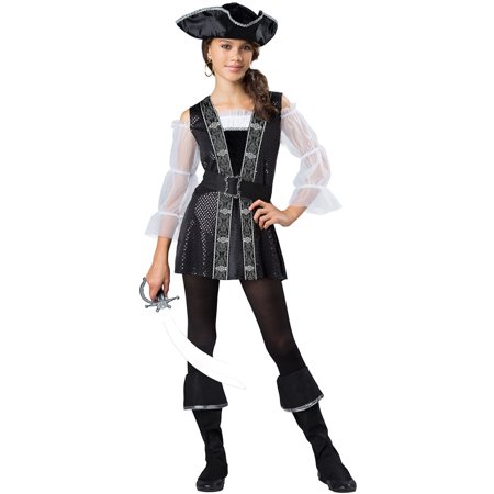 Girls Tween Dark Pirate Halloween Costume