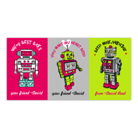Personalized Valentines Day Kids Greeting Card - Best Bots
