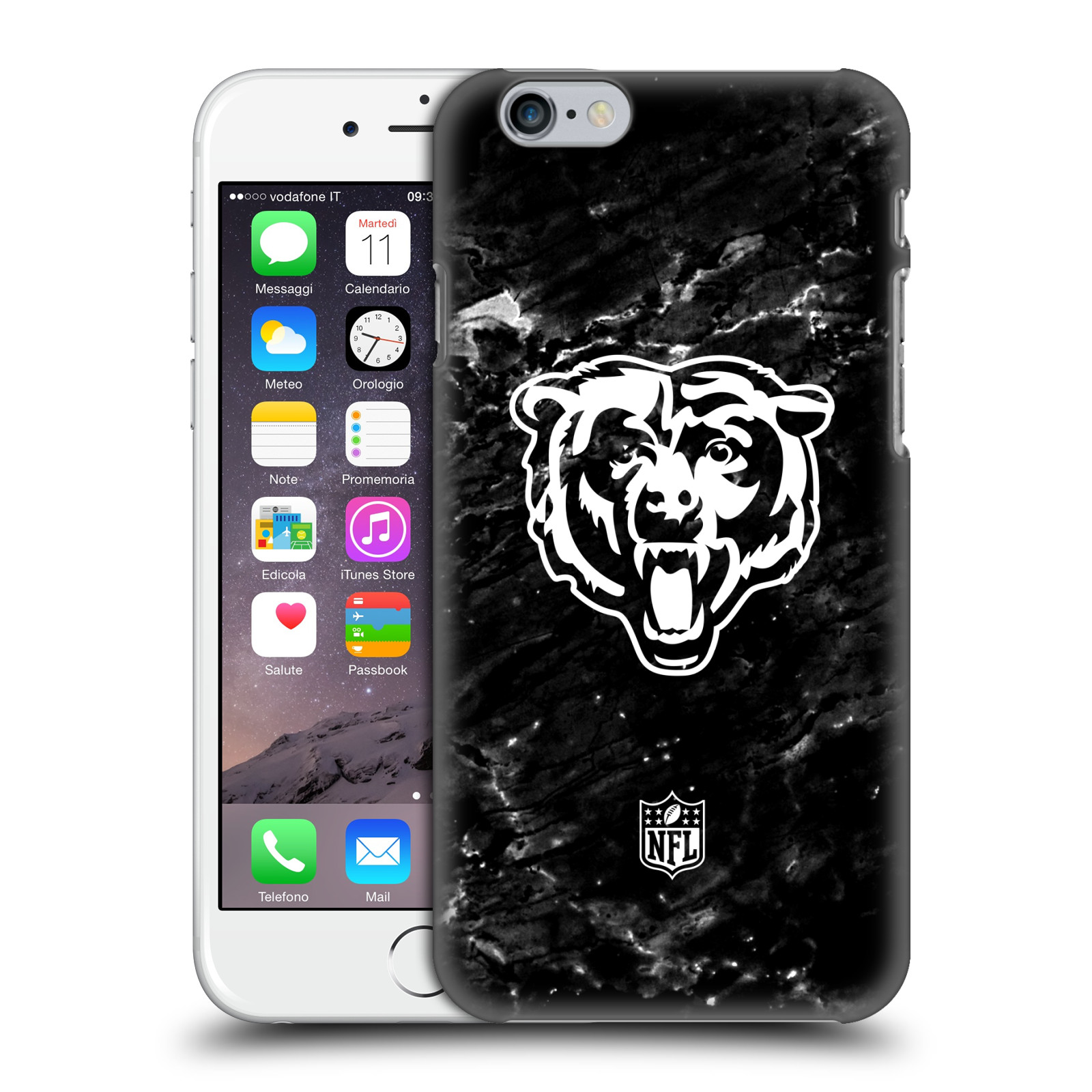 OFFICIAL NFL 2017/18 CHICAGO BEARS HARD BACK CASE FOR APPLE IPHONE PHONES
