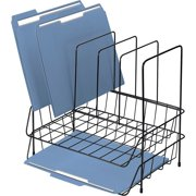 Fellowes Wire Double Tray with Sorter, Black, 1 Each (Quantity)