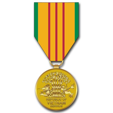 3.8 Inch Vietnam Service Ribbon Medal Decal ()