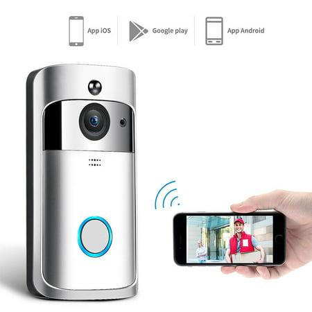 Wireless WiFi DoorBell Smart Video Phone Door Visual Ring Intercom Secure -
