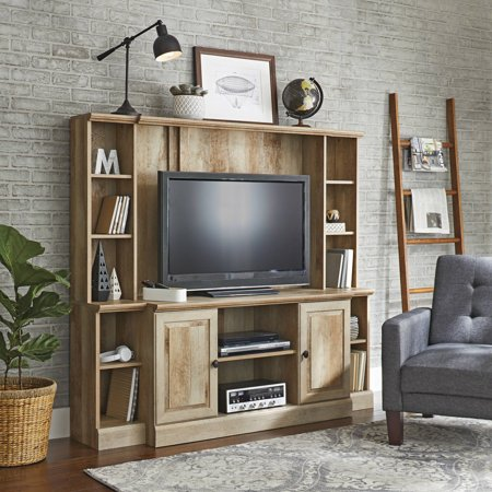 "Better Homes & Gardens Crossmill TV Stand/Entertainment Wall Unit for TV's up to 42"", Weathered Finish"