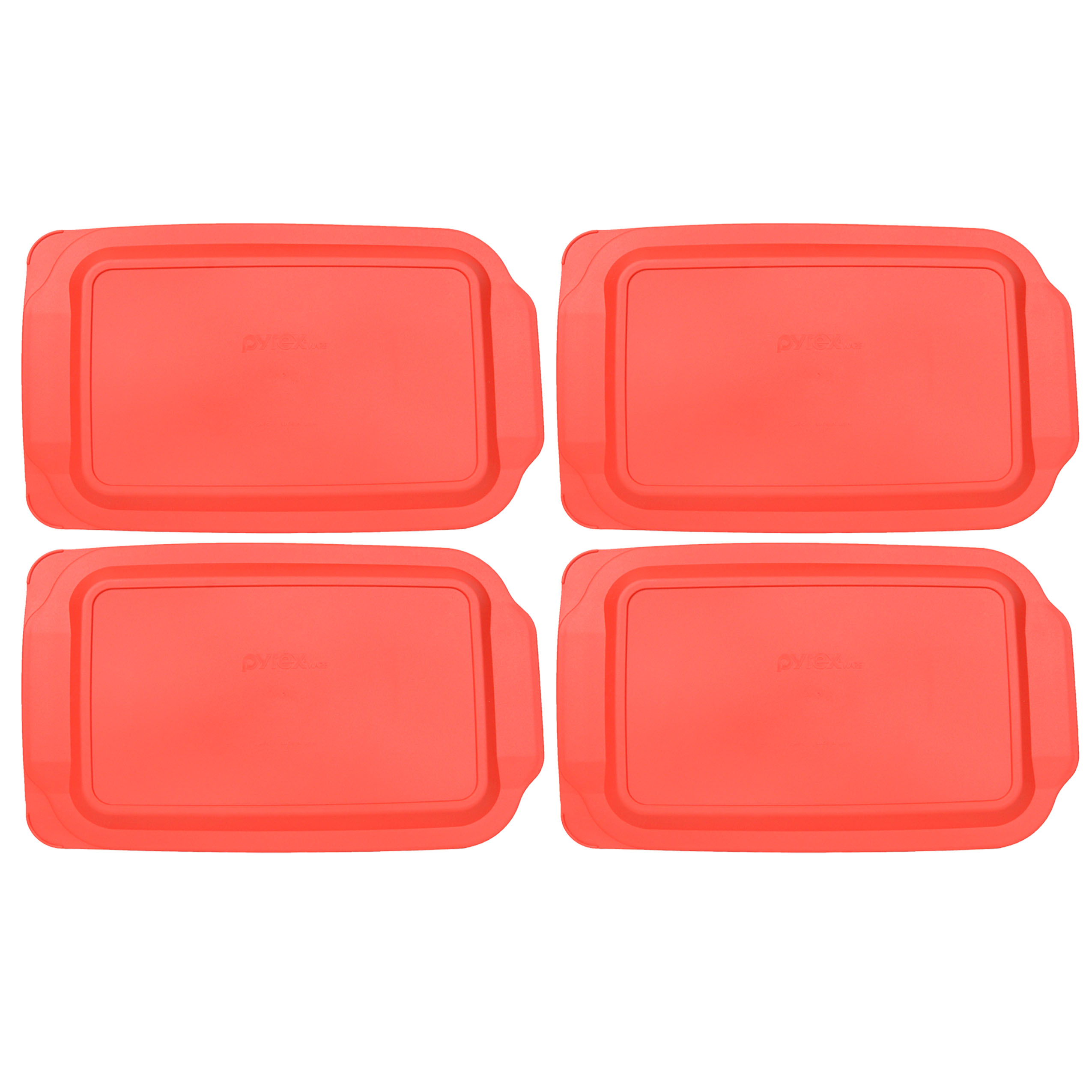 Pyrex Replacement Lid 234-PC 4 Quart Rectangular Red Plastic Cover 4-Pack