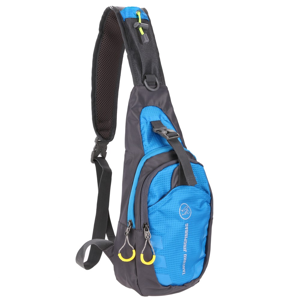 Unisex Chest Bag Outdoor Sport Travel Shoulder Sling Backpack Pouch (Blue)
