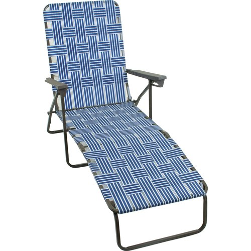 Mainstays Web Lounger, Navy Blue/White