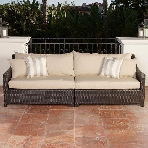 RST Brands  Deco Sofa  Outdoor Furniture  Deco  Furniture  Outdoor Sofas  ;Slate Grey with Sunbrella
