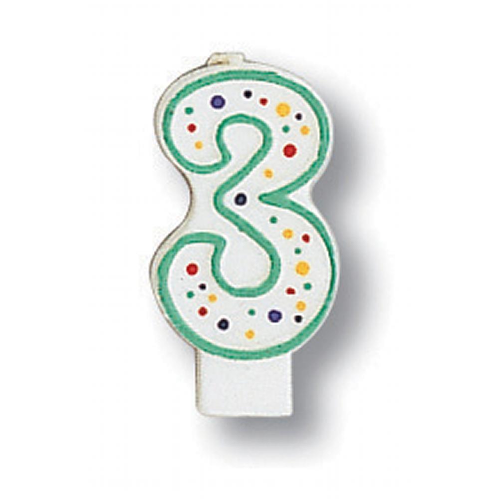 Creative Converting Polka Dot #3 Candle
