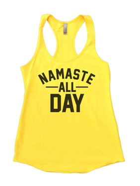 "6b2a6e7856c64d Product Image Womens Tank Top Flowy ""Namaste All Day"" Yoga Class Fitness  Shirt - Funny Threadz"