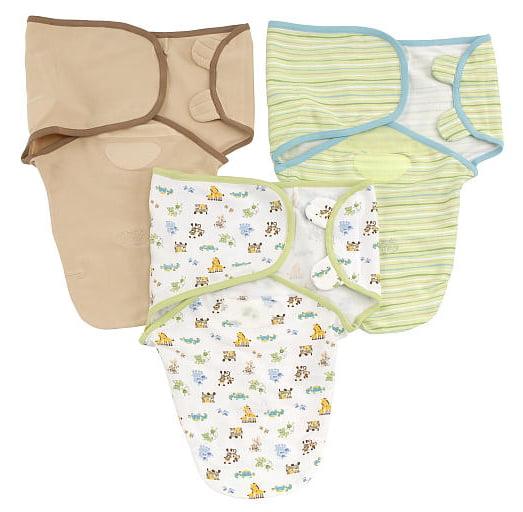 Summer Infant SwaddleMe Adjustable Infant Wrap 3-Pack, Mom & Baby