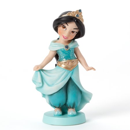 Couture De Force Disney Little Princess Jasmine Wearing Teal Outfit Figurine - Jasmine Outfits