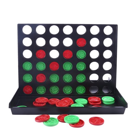 Four in Line Game Connect 4 Game with Checkerboard Storage](Checker Games)