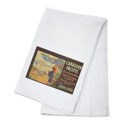 Canadian Dish (Canadian Pacific Vintage Poster (artist: Rosenvinge) UK c. 1920 (100% Cotton Kitchen Towel) )