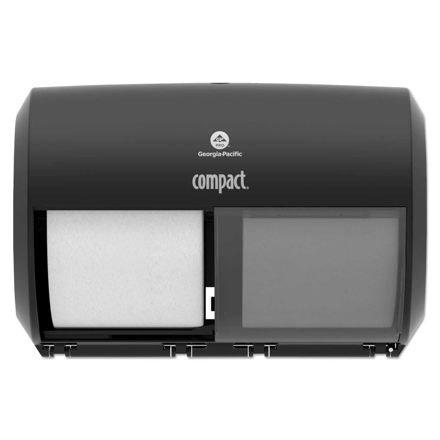 "Georgia Pacific Professional Compact Coreless Side-by-Side Double Roll Tissue Dispenser 11.5"" x 8"""