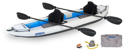 Sea Eagle 385FT FastTrack Inflatable Kayak Pro Carbon Package by Sea Eagle Boats, Inc.