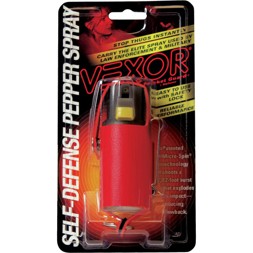 VEXOR Pocket Guard Premium Holster Pepper Spray, 3/4 oz, Red