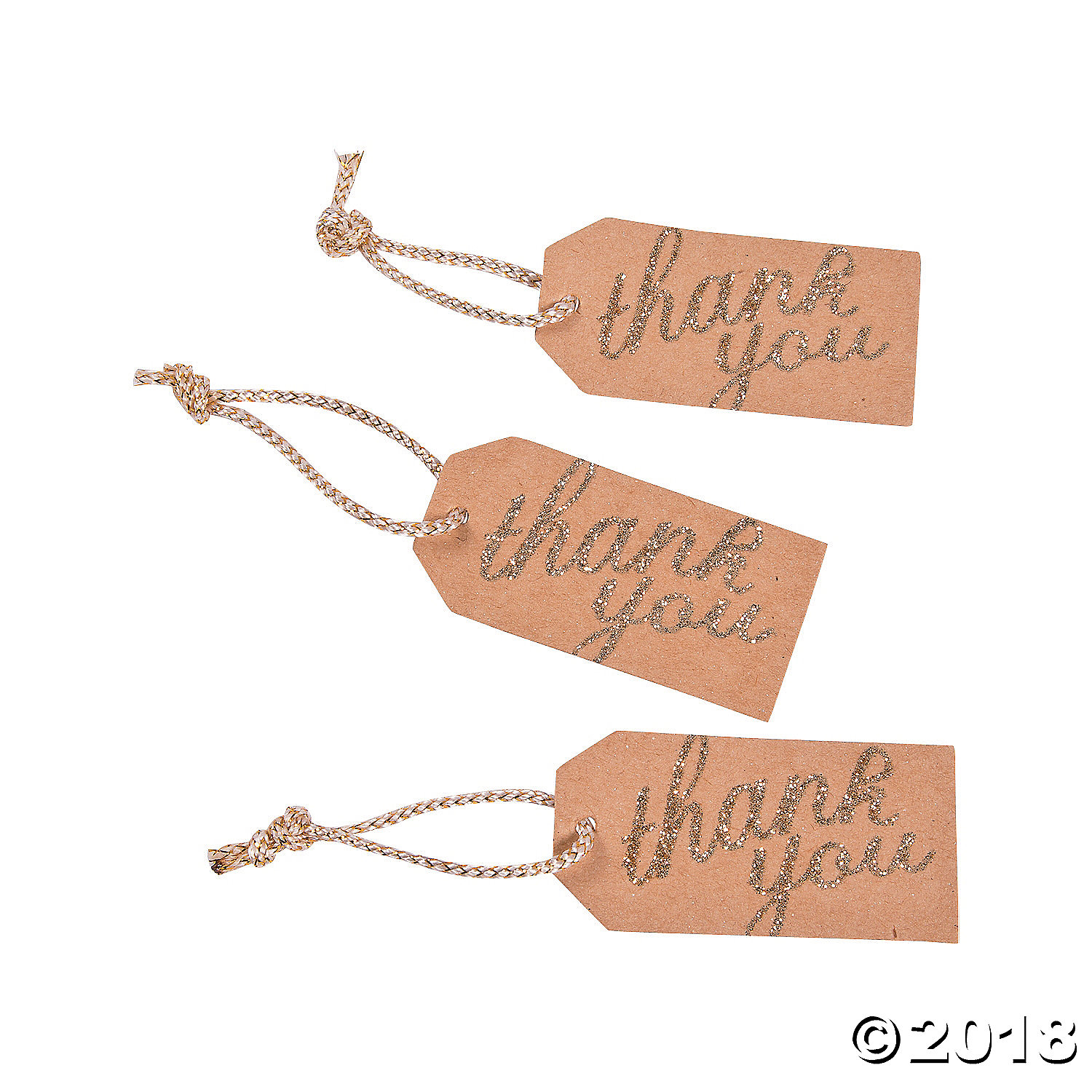 Gold Thank You Favor Tags(pack of 3)