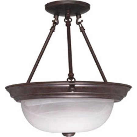 Replacement for 60/209 2 LIGHT 13 INCH SEMI FLUSH ALABASTER GLASS OLD BRONZE TRANSITIONAL