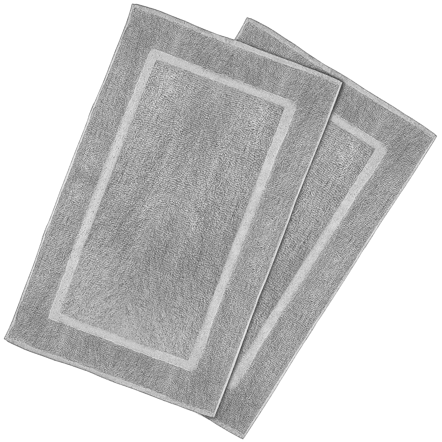 Goza Towels Cotton Bath Mat 2 Pack, 20 x 31 inches