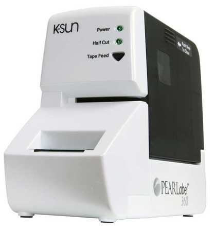 K-SUN 2360PCM Desktop Label Printer, Pearl White, 360dpi