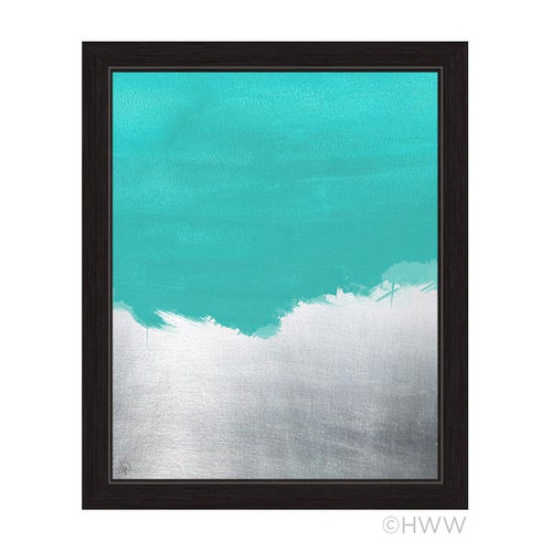 Click Wall Artwork Abstract Framed Painting Print in Blue by Click Wall Art