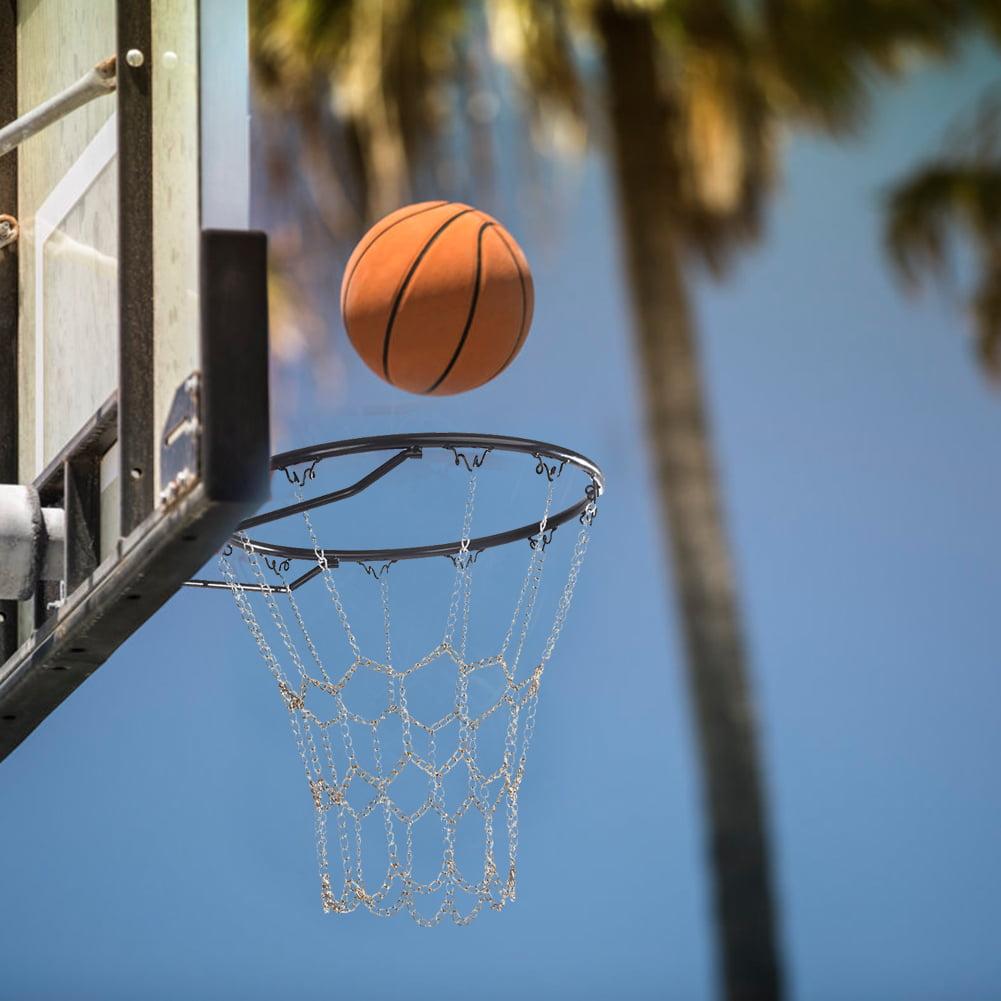Iron chain two-color nets Hoop nets No Rim//Hoop. Hoop nets basketball tennis pockets Metal basketball rack nets Basketball Net