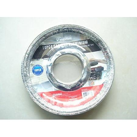 Aluminum Foil Disposable Round Gas Drip Pan Liner, 8.5