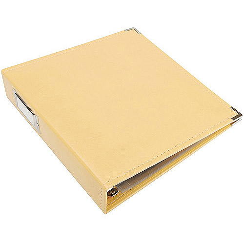 "We R Memory Keepers Faux Leather 3-Ring Binder, 8.5"" x 11"""
