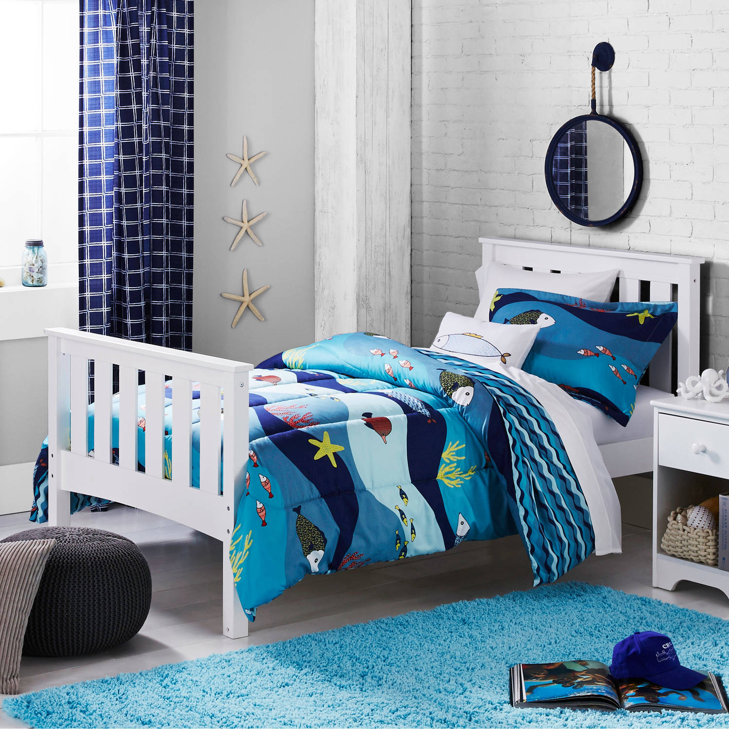 Better Homes And Gardens Kids Sealife Bedding Comforter Set   Walmart.com