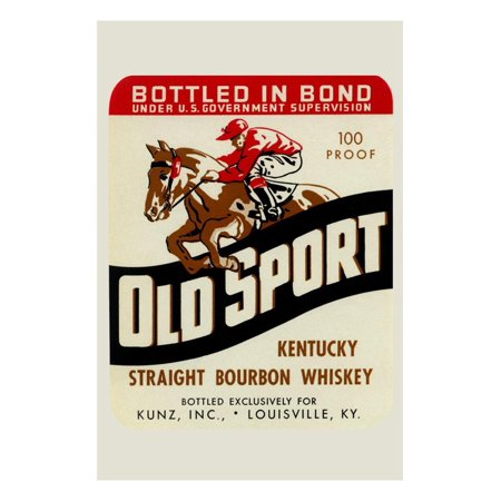 Old Sport Kentucky Straight Bourbon Whiskey Print Wall