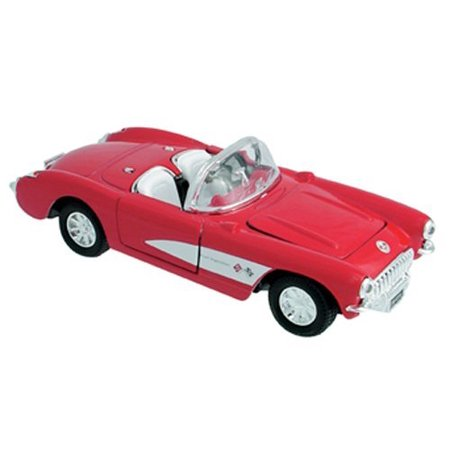 Die Cast 1957 Chevrolet Corvette Car 1:34 scale - Available in Red Black or Blue - Only one included - image 1 of 1