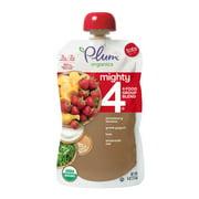 (4 pack) Plum Organics Mighty 4 Blends Strawberry Banana, Greek Yogurt, Kale, Oat & Amaranth, 4oz