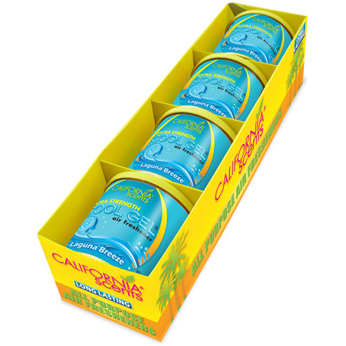 California Scents Cool Gel 4.5 oz, 4-Unit Pack, Laguna Breeze (CG4-402TR)